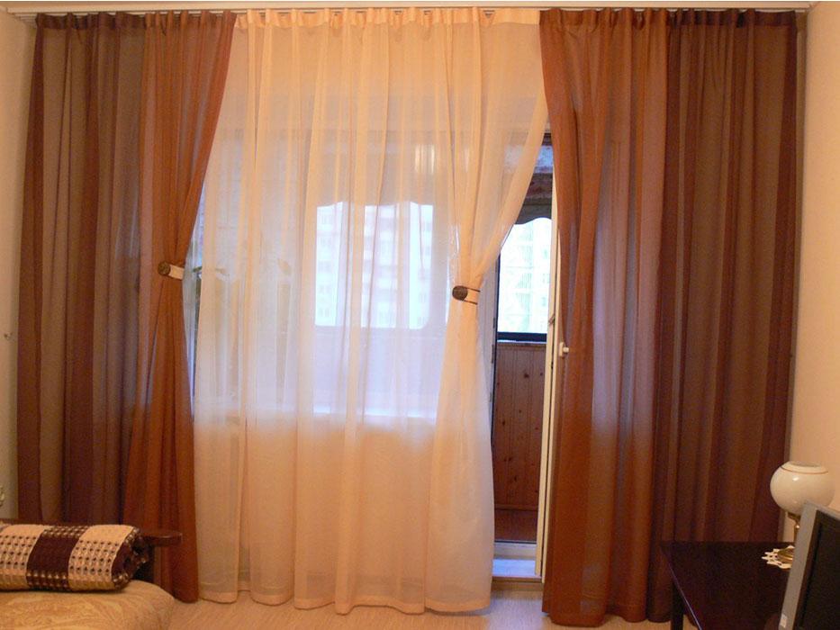 Простейшие шторы из вуали