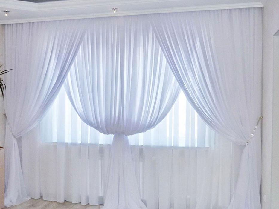 Простые легкие шторы