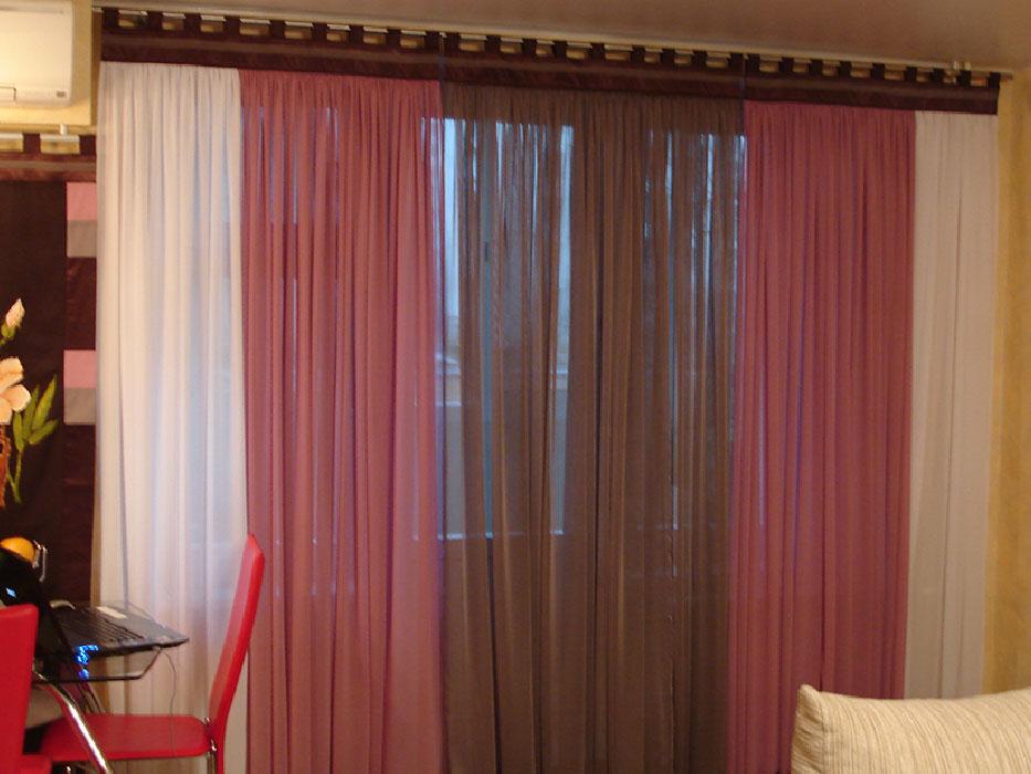 Простые шторы из остатков