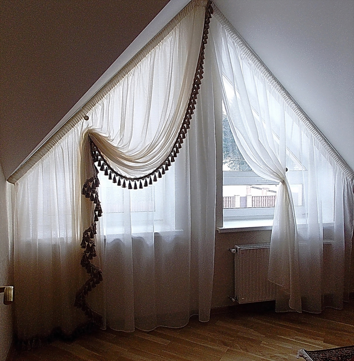 шторы для нестандартных окон в картинках важное, что них