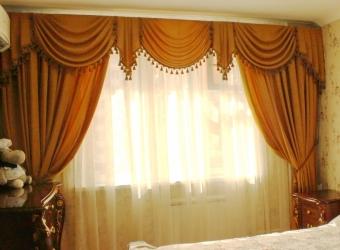 шторы с драпировками